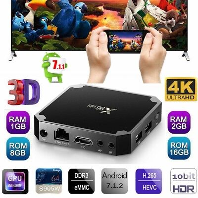 X96 Mini 4K Smart Tv Box 1080P Android 7.1 Quad Core Wi-Fi HD 1/2GB+8/16GB EU