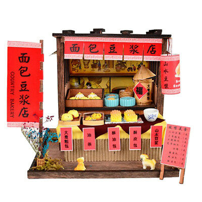 DIY Handcraft Miniature Project Wooden Dolls House Country Breakfast Bar