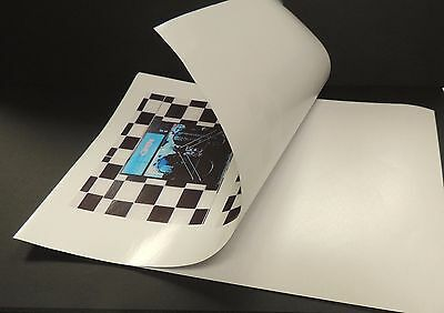 "8.5""x11"" Full Sheet Sticker Paper (100 Sheets) for inkjet printers FREE SHIPPING"