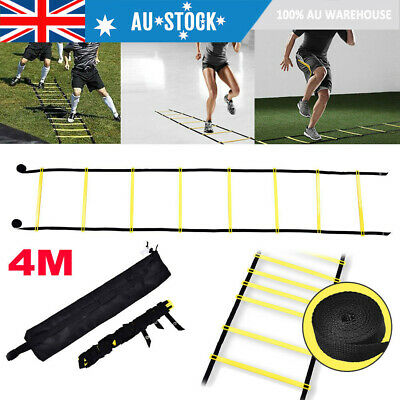4 Meters 8 Rung Agility Ladder Exercise Speed Football Fitness Feet Training Bag