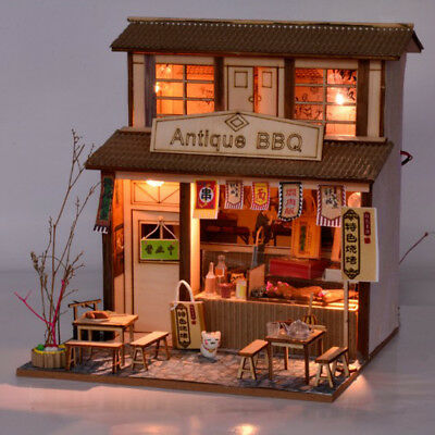 DIY Handcraft Miniature Project Wooden Dolls House - Vintage BBQ Restaurant