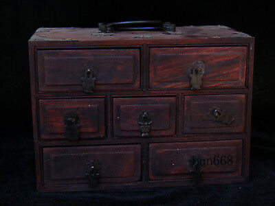 China old antique huanghuali wood Drawer style Jewelry box