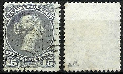 Canada Large Queen 29, 15c Gray violet VF Used