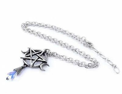 New Alchemy Gothic - Wiccan Triple Goddess Elements Pewter Pentagram Necklace