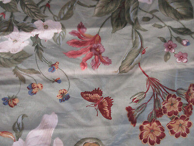 WILLIAMSBURG UPHOLSTERY FABRIC AUTHENTIC PERIOD GARDEN IMAGES DRAPERY 54W x 8Yd