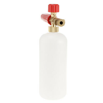 Pressure Washer Jet Wash Foam Lance Cannon Quick Release Adjustable Red