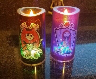 Nightmare Before Christmas Color Changing, Battery operated Candles. Set of 2!!