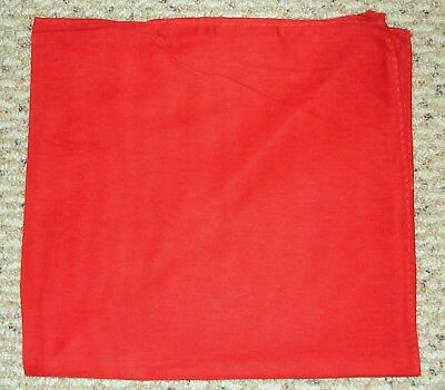 SOLID RED Bandana Bandanna 100% Cotton BIKER DURAG DOORAG HANKY HEADWRAP