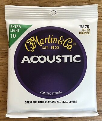 Martin M170 Extra Light Gauge Acoustic Guitar Strings