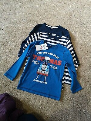 Thomas The Tank Engine 3pack Of Tshirts Aged 3-4 Years