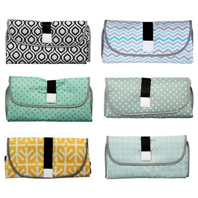 Baby Portable Folding Diaper Travel Changing Pad Waterproof Mat Bag Storage 3in1