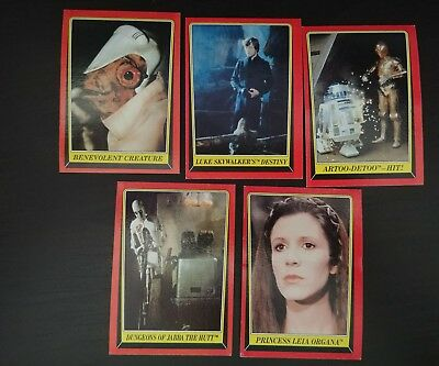 Star Wars Return of the Jedi TOPPS Series 1 1983 Red Border lot of 35