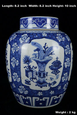 Chinese Beautiful Blue and White Porcelain Flowers Tea Caddies