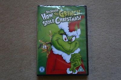 Dr. Seuss How The Grinch Stole Christmas    Brand New Sealed Genuine Uk Dvd