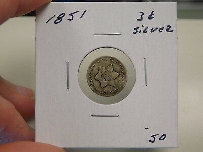 1851 3 Cent Silver