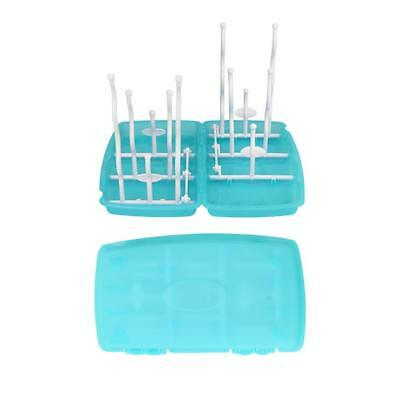 Baby Nursing Bottle Drying Rack Drain Tray Foldable pacifier Organizer Drainer