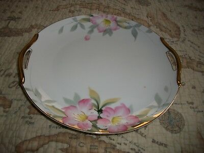 Vintage Handled Cake Plate in Azalea by Noritake - Excellent Condition