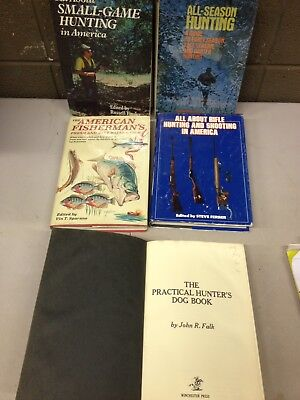 Lot of 5 Vintage Hunting Fishing Outdoorsman How To Books (bb23)