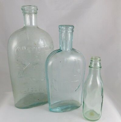 Antique Baltimore Glassworks Flask plus Two!