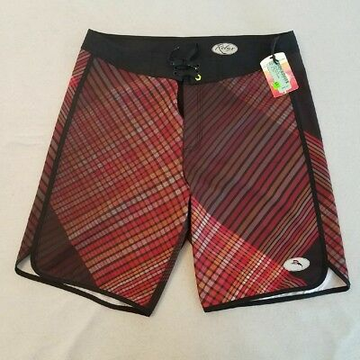 Tommy Bahama Mens Swim Shorts M Red Stripes Relax Medium New with Tags