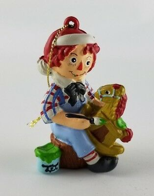 Raggedy Andy At Play Painting Rocking Horse Simon and Schuster Ornament