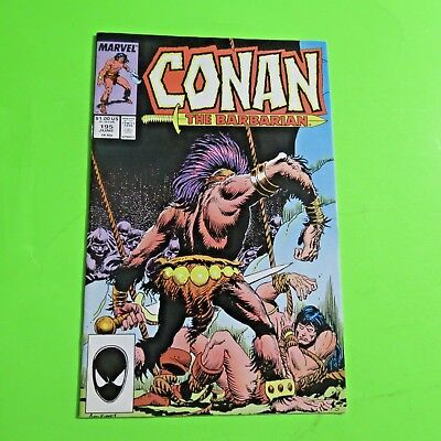 Conan The Barbarian #195 Marvel Comics Copper Age (1987) C919
