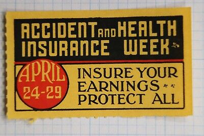 Accident Health Insurance policy week medical protect industry Poster stamp ad