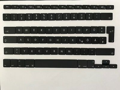 GERMAN QWERTY keyboard keys for MacBook Pro and MacBook Air for AP02 clips
