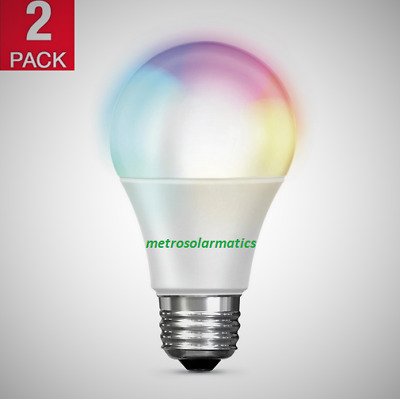NEW Feit Electric Wi-Fi LED Color Changing Dimmable Smart Bulb 2 Pack | 60 Watts