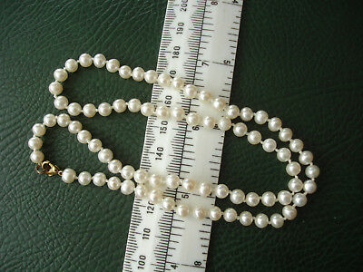 """White Fresh water cultured pearl 5mm necklace 19.25"""""""