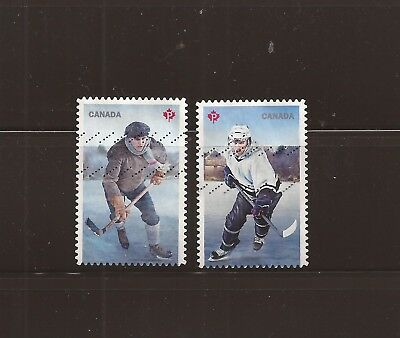 S17-14 Canada 2017 History of hockey used stamps #3040-41