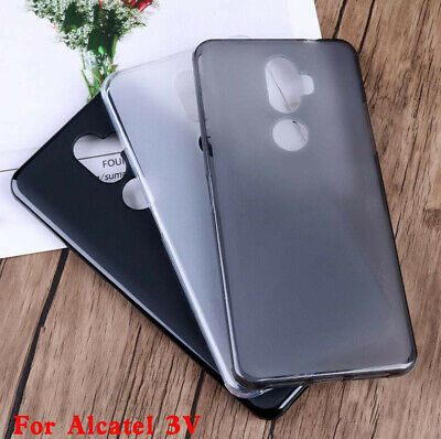 For Alcatel 3C 3V 3X Anti Print Shockproof TPU Matte Gel skin case back cover
