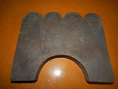 19th Century Garden Edging Terra Cotta Georgia Clay Slave Tile Circle Pattern