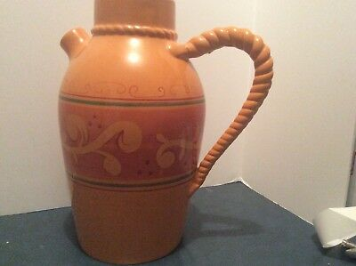 """Large Home And Garden Party Tuscan Stoneware Pitcher 15"""" Tall"""