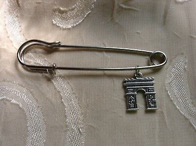 NEW Ancient Roman Triumphal Arch Large Safety Pin Brooch Cute Jewelry Unique