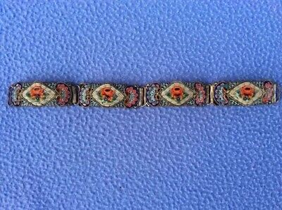 + Rare Early Italian Glass Bracelet Millefiori - Four Links - Beautiful +