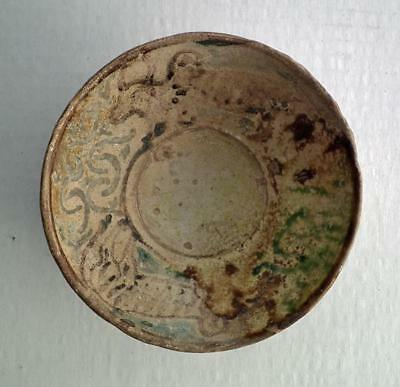 Antique Medieval Islamic Ceramic Bowl Fatimid Caliphate 10th-11th century A.D.