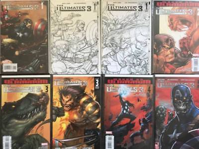 Ultimates 3 Comic Book Lot, 8 Issues, Marvel  NM, Vol. 1, Variants