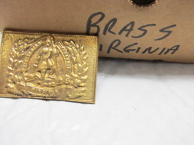 [BV]  reproduction  civil war Virginia cast brass belt buckle
