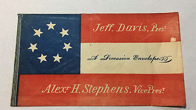 Southern  Civil War Patriotic - Ex Rare  7 Star Flag  Jeff Davis for President