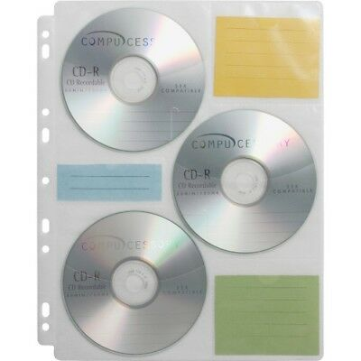 CD Media Binder Storage Pages, 25 Refill Pages/PK CCS22297