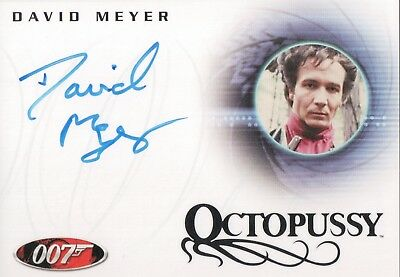 James Bond In Motion, David Meyer 'Grischka' A85 Autograph Card