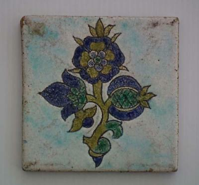 Antique 18th Century Turkish Ottoman Kütahya Islamic Ceramic Tile by Armenian