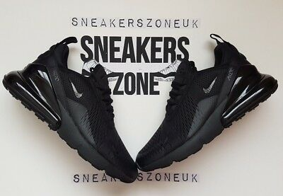 ef4f86f7fa NIKE AIR MAX 270 Triple Black Trainers AH8050-005 Size 9 UK - EUR ...
