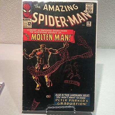 Amazing Spider-Man #28 VG(very Good)condiMarvel Molten Man First Appearance
