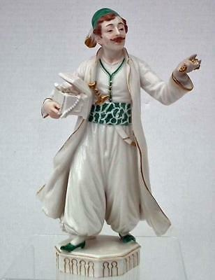 Antique European Porcelain Figurine Of Islamic Turkish Ottoman Jewelry Merchant