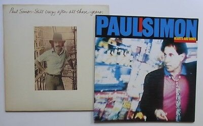 2 LPs: Paul Simon: Still crazy after all these years + Hearts And Bones (mint-)
