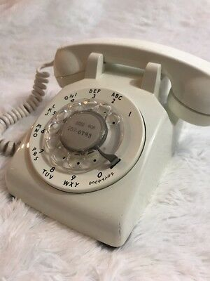 RARE Vintage Bell Rotary Dial Telephone WESTERN ELECTRIC 500DM White Desk Phone