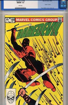Daredevil # 189 Cgc 9.8 White Pages Death Of Stick - Netflix Key Issue