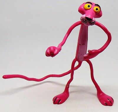 Vintage Amscan Inc Bendable Pink Panther Figure Used
